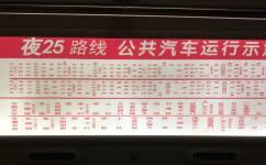 广州夜25路公交车路线
