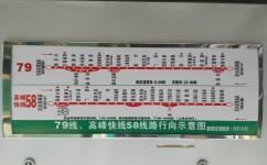广州高峰快线58公交车路线