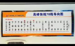广州高峰快线70公交车路线