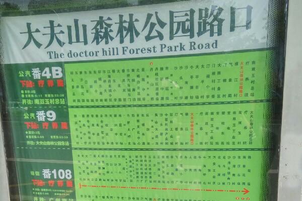 大夫山森林公园路口公交站