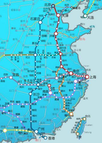 京深高铁线路图 京深高铁 京深高铁时刻表图片