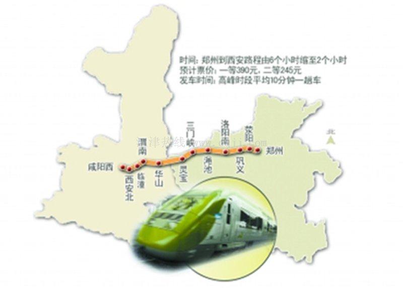 开封到青岛火车地图