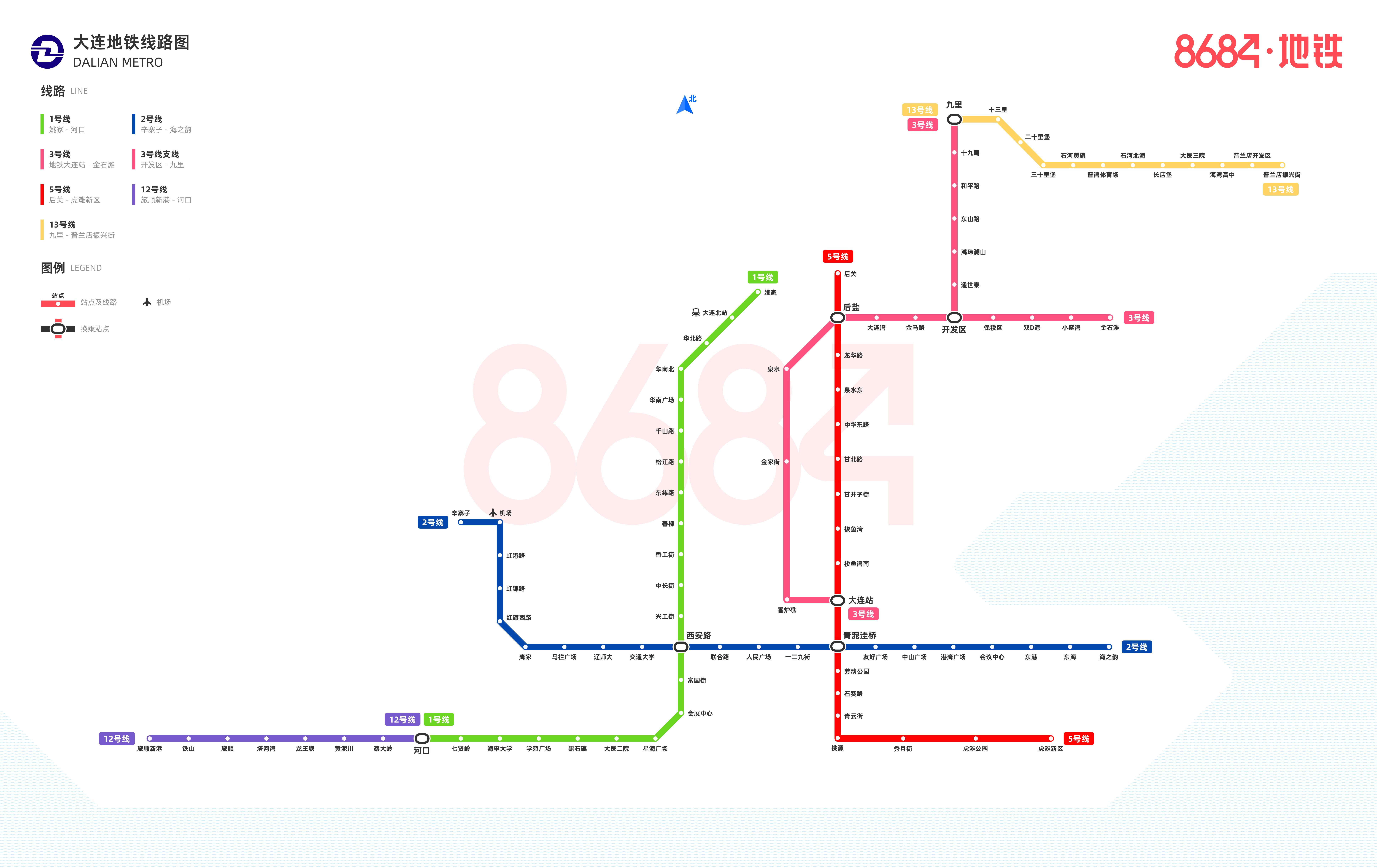 大连地铁线路图