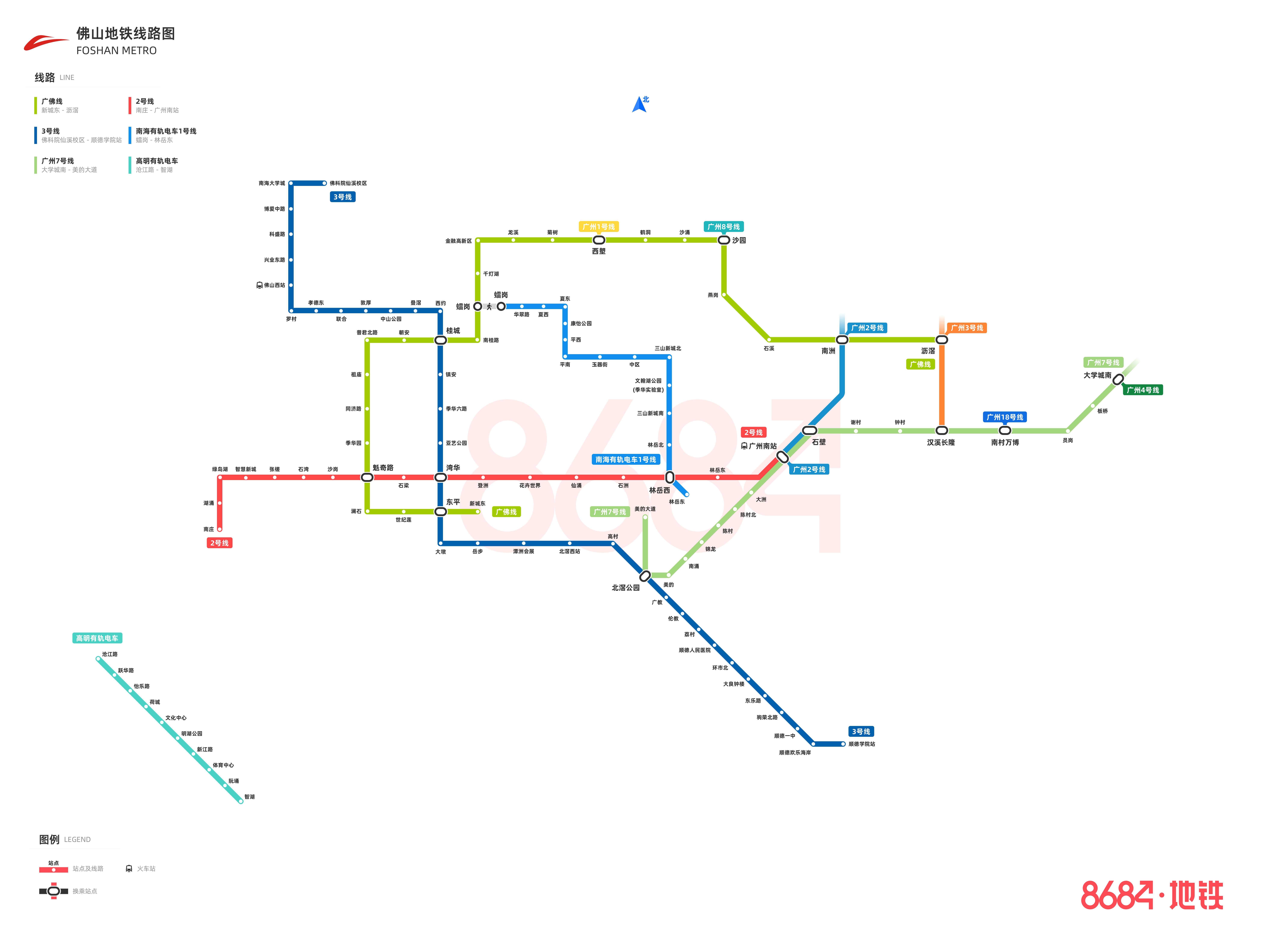 佛山地铁线路图