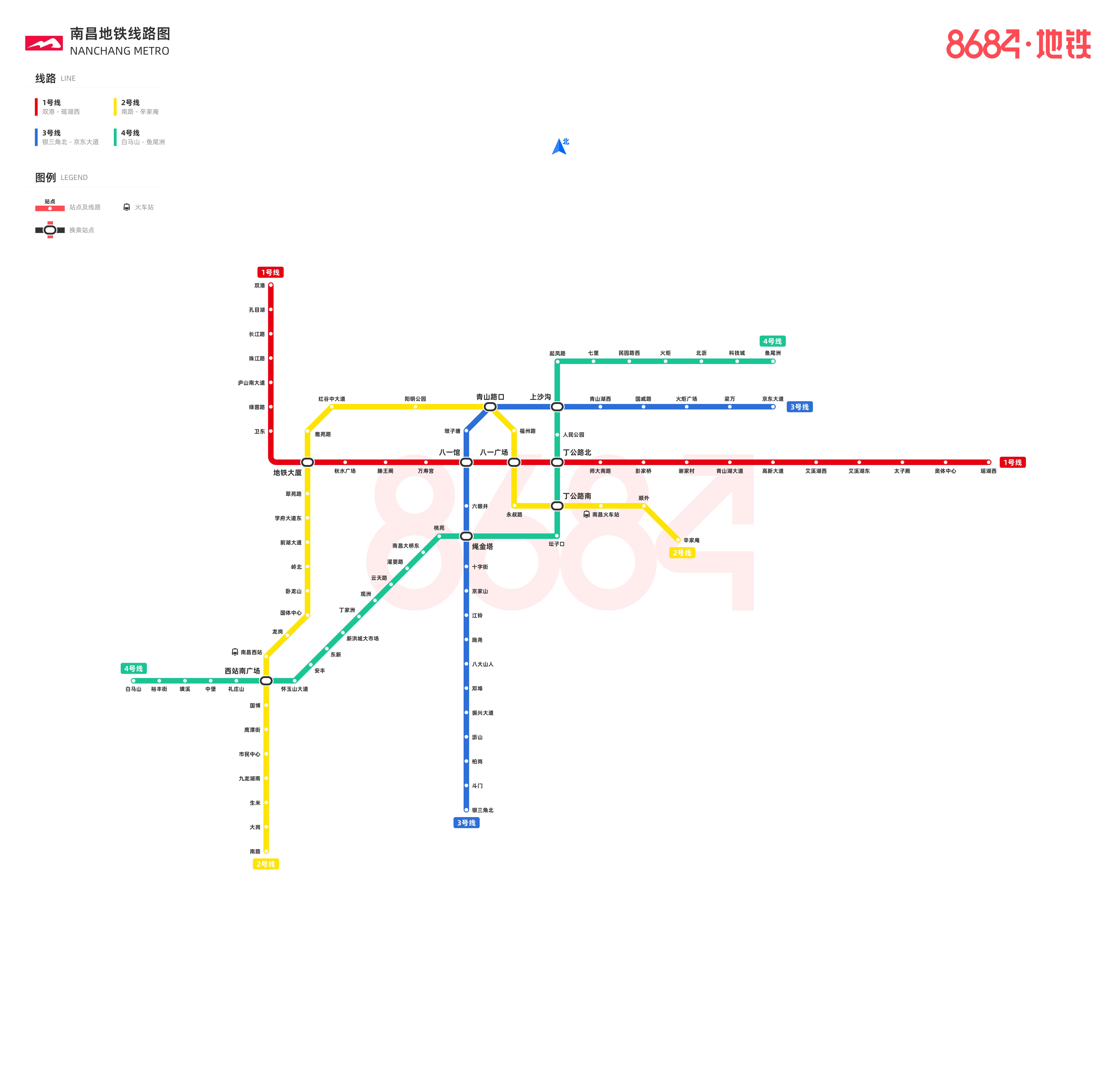 南昌地铁线路图