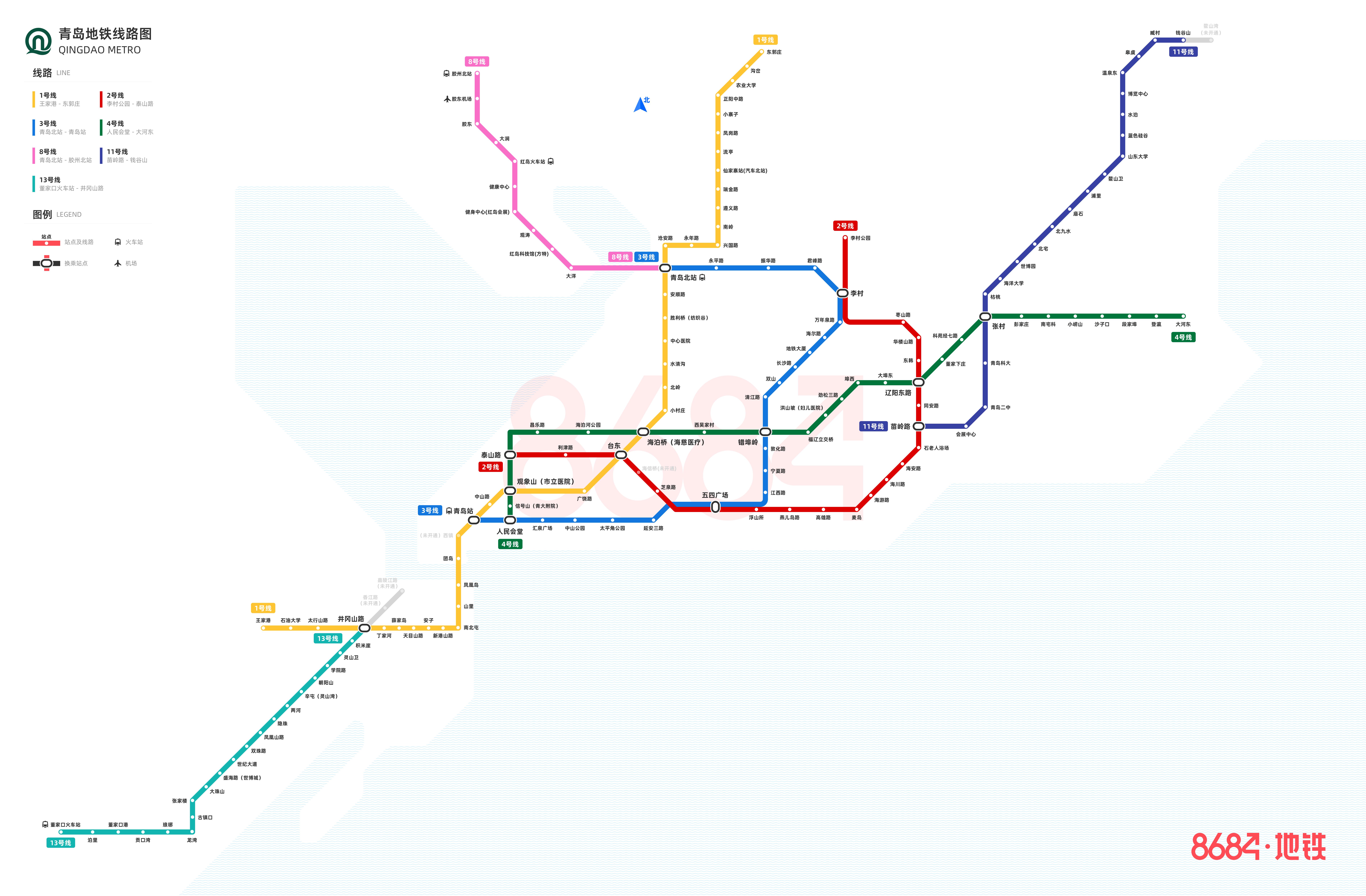 青岛地铁线路图