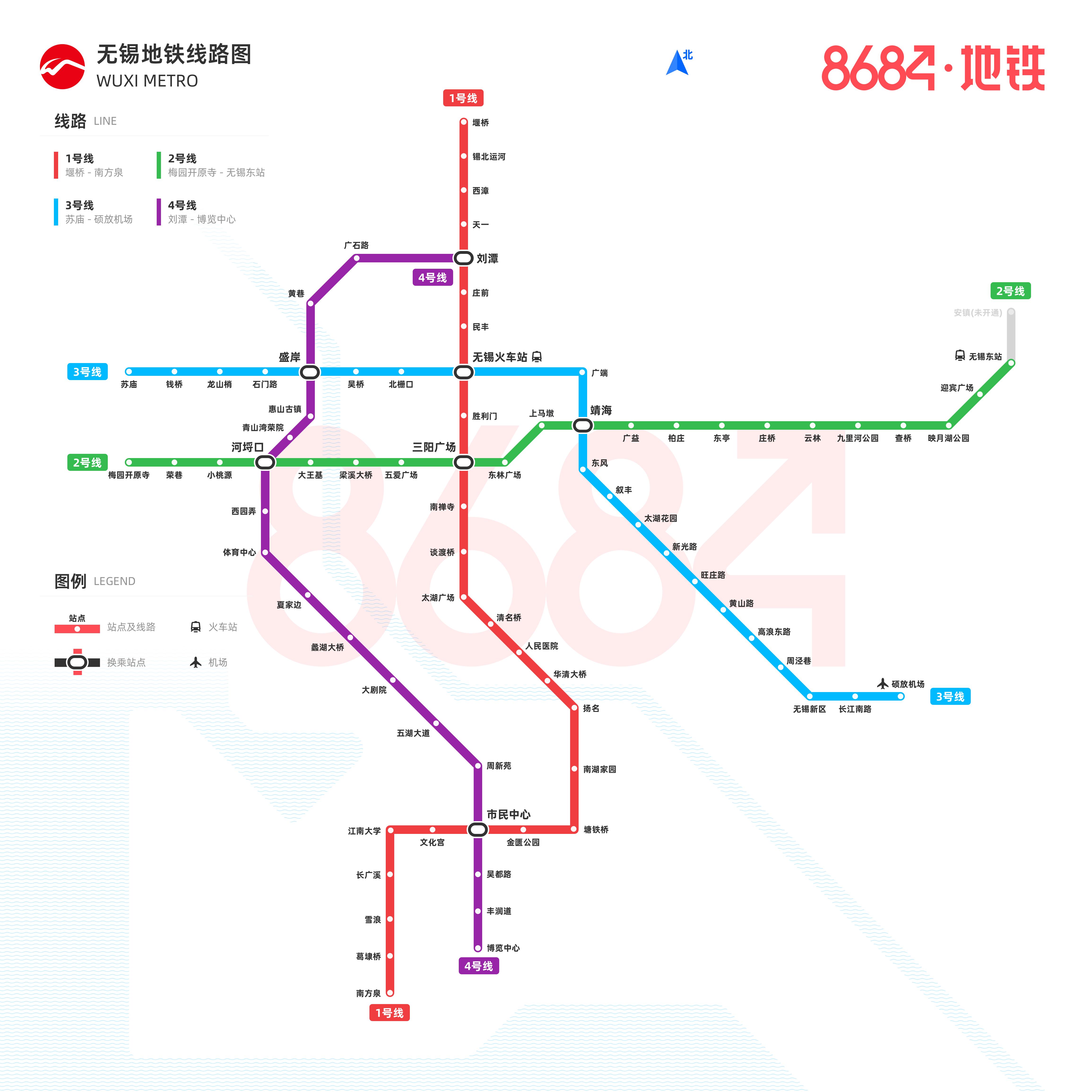 无锡地铁线路图