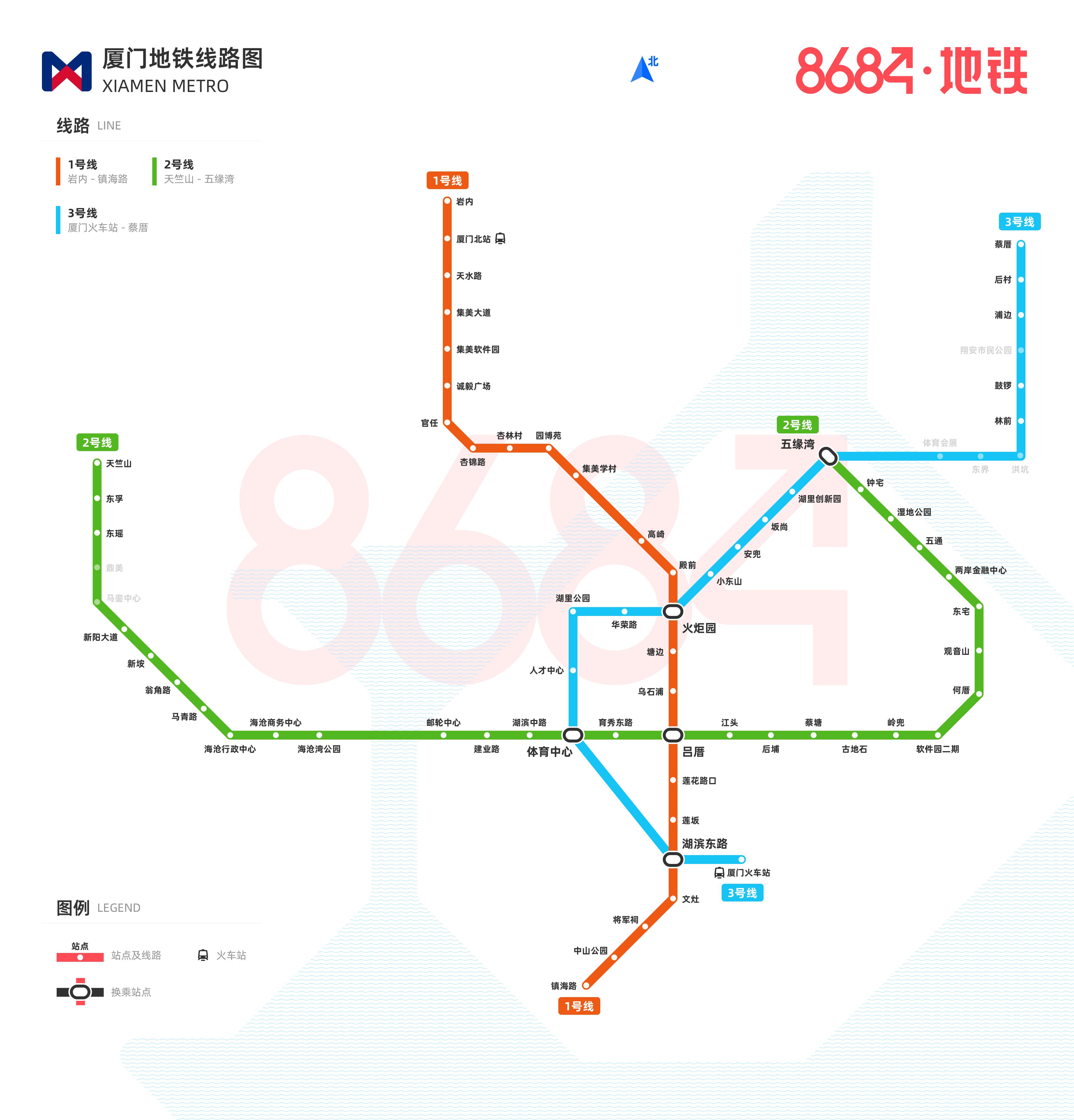 厦门地铁线路图