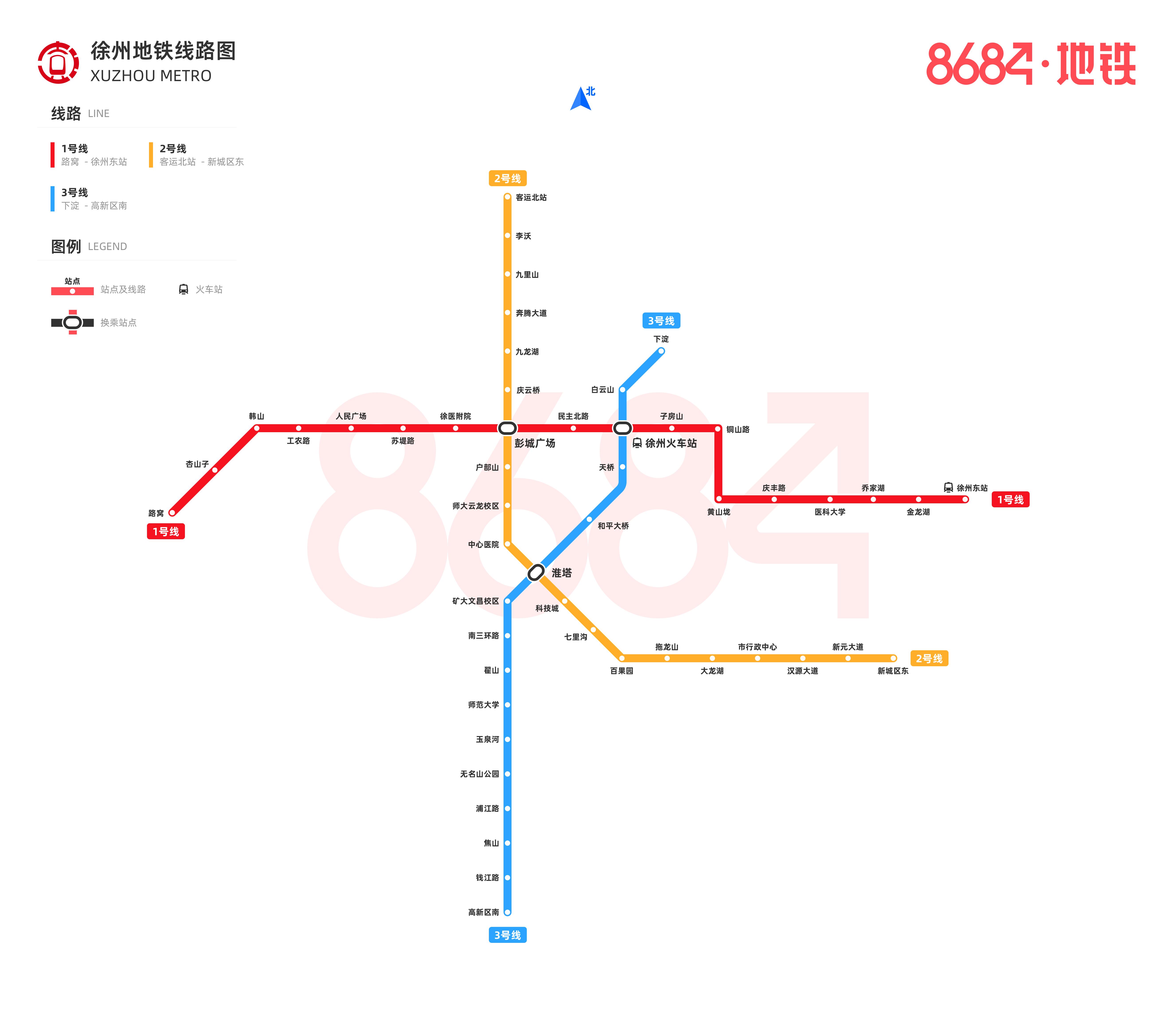 徐州地鐵線路圖