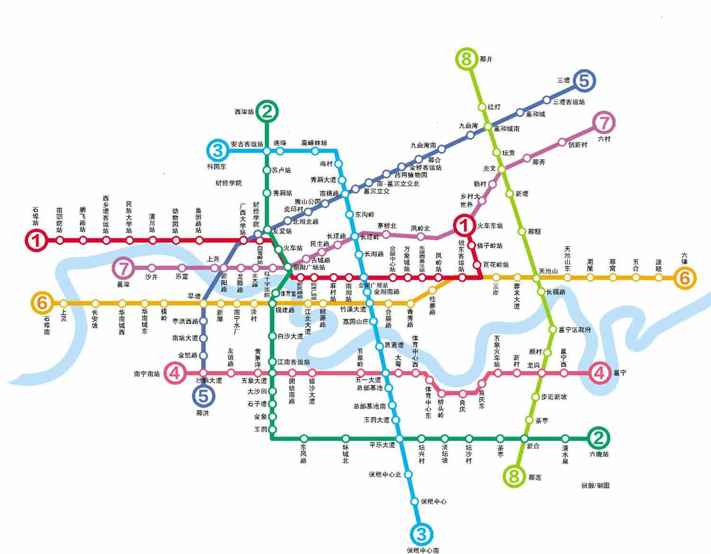 南宁地铁规划 南宁地铁规划图 南宁地铁规划线