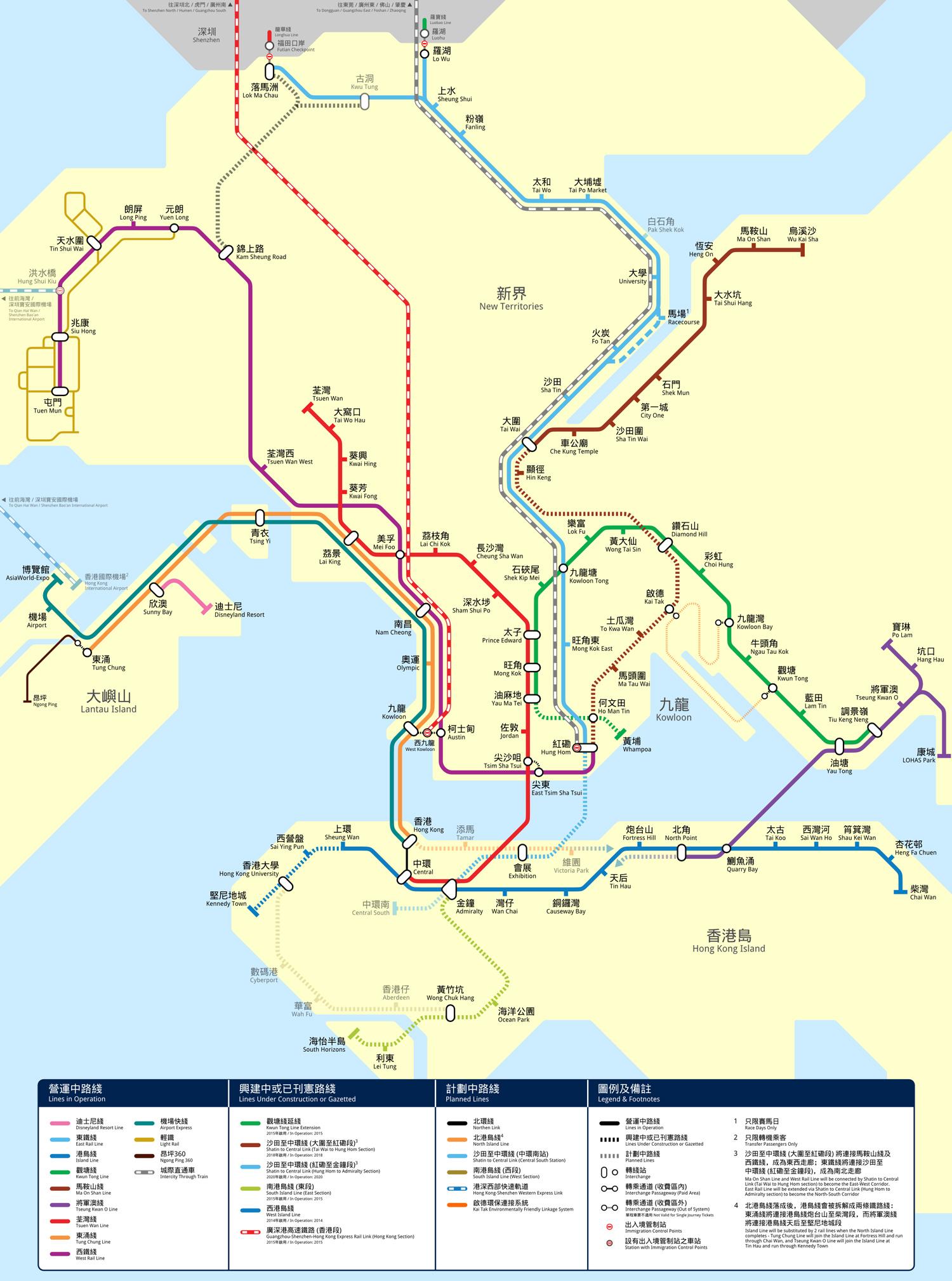 香港地铁路线图 南京地铁三号线路线图 上海地铁一号线路线图