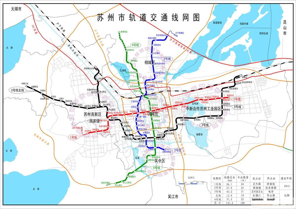 苏州地铁线路规划