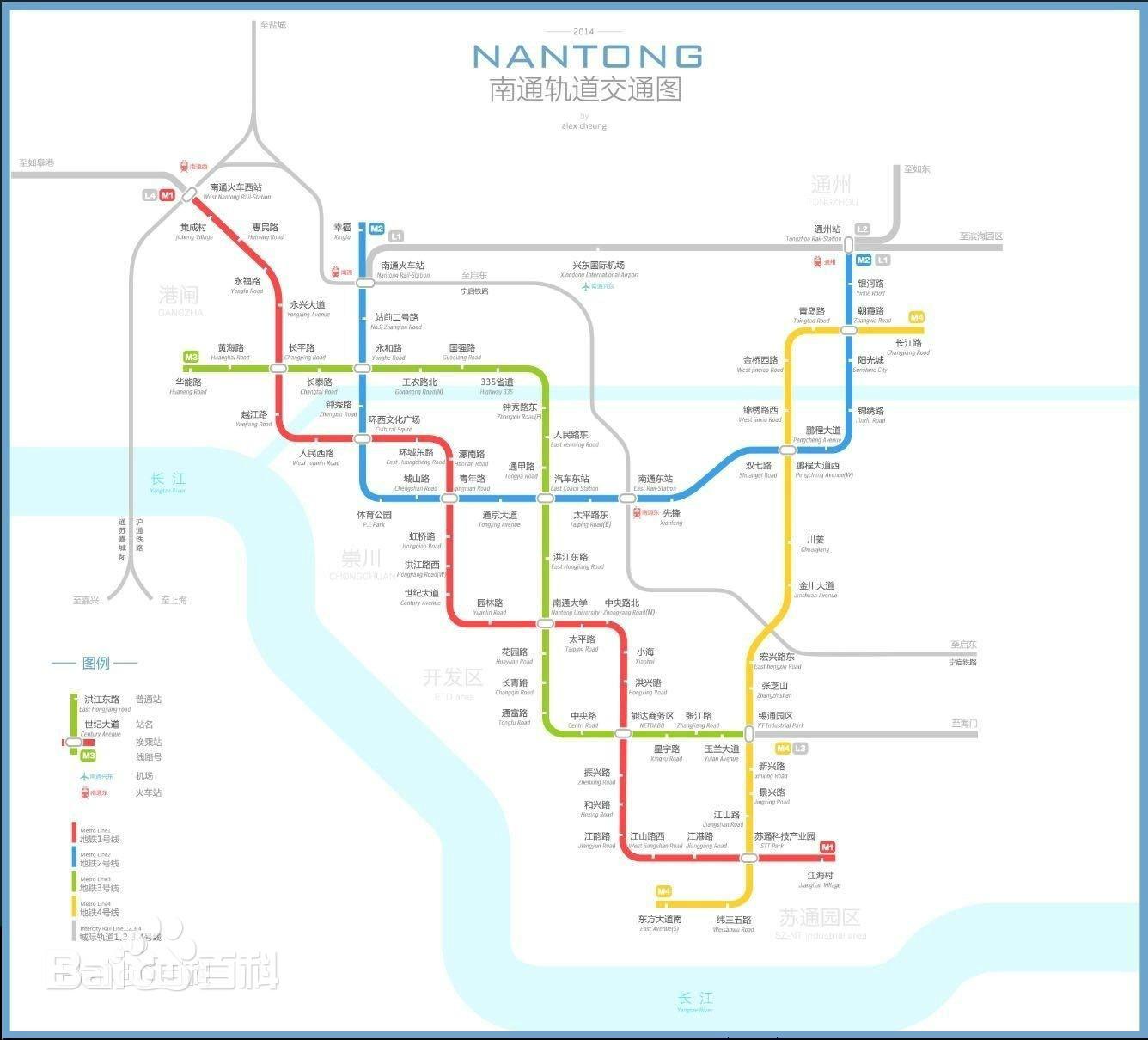 南通地铁线路规划