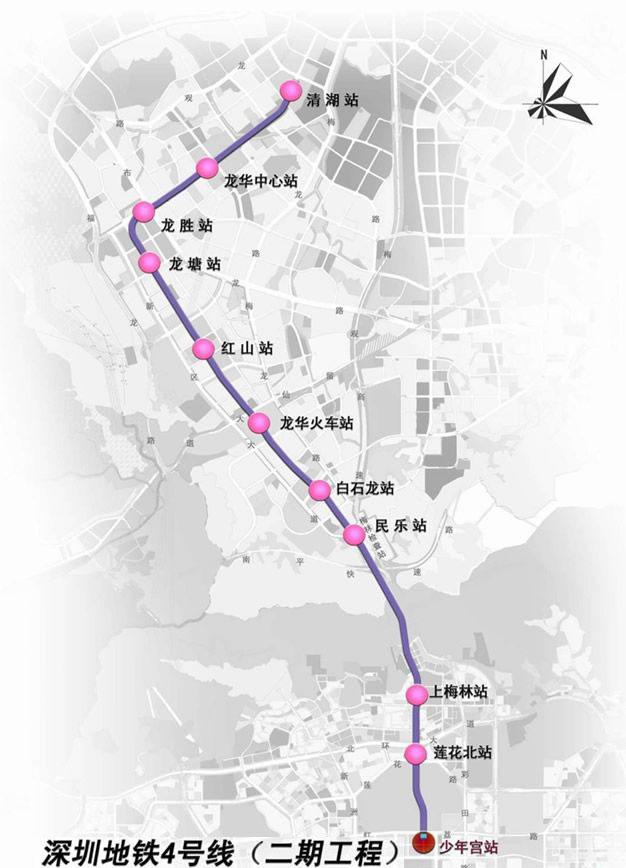 深圳地铁4号线线路图-深圳地铁最新线路图 1至5号线图片